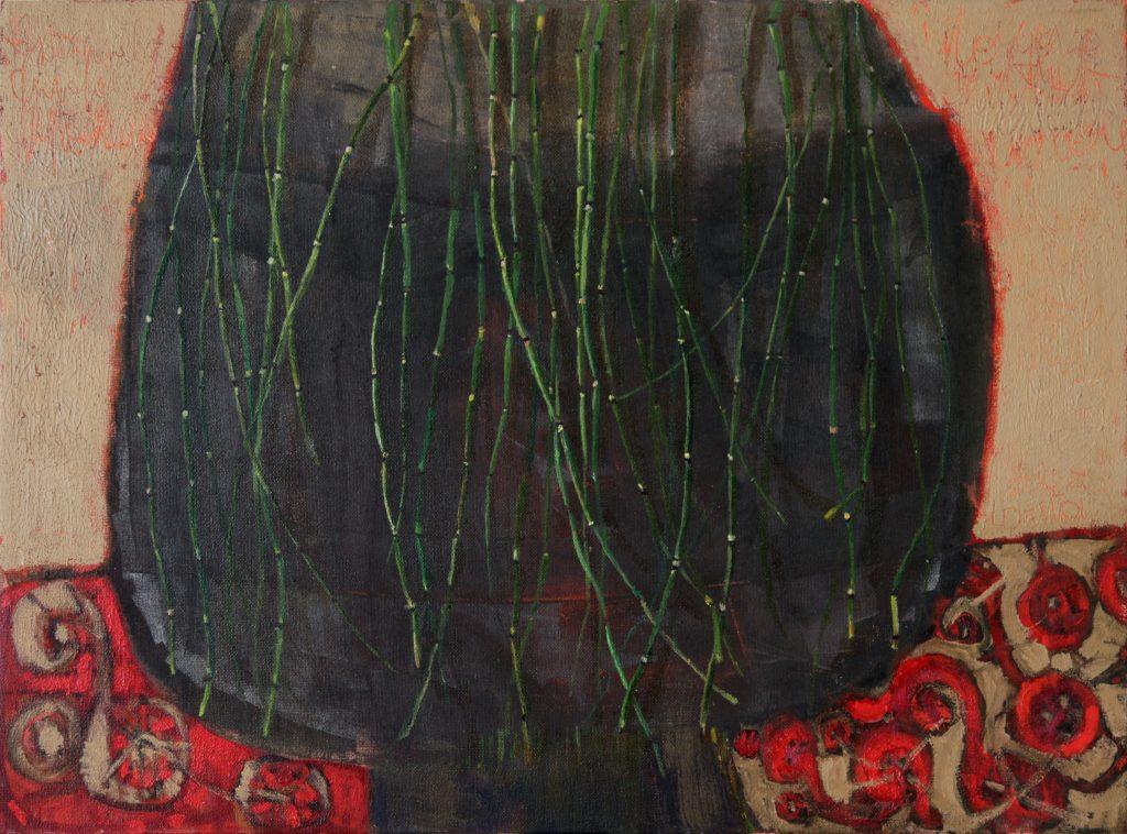 Asiūkliai 2008, aliejus, drobė, 74x100cm.